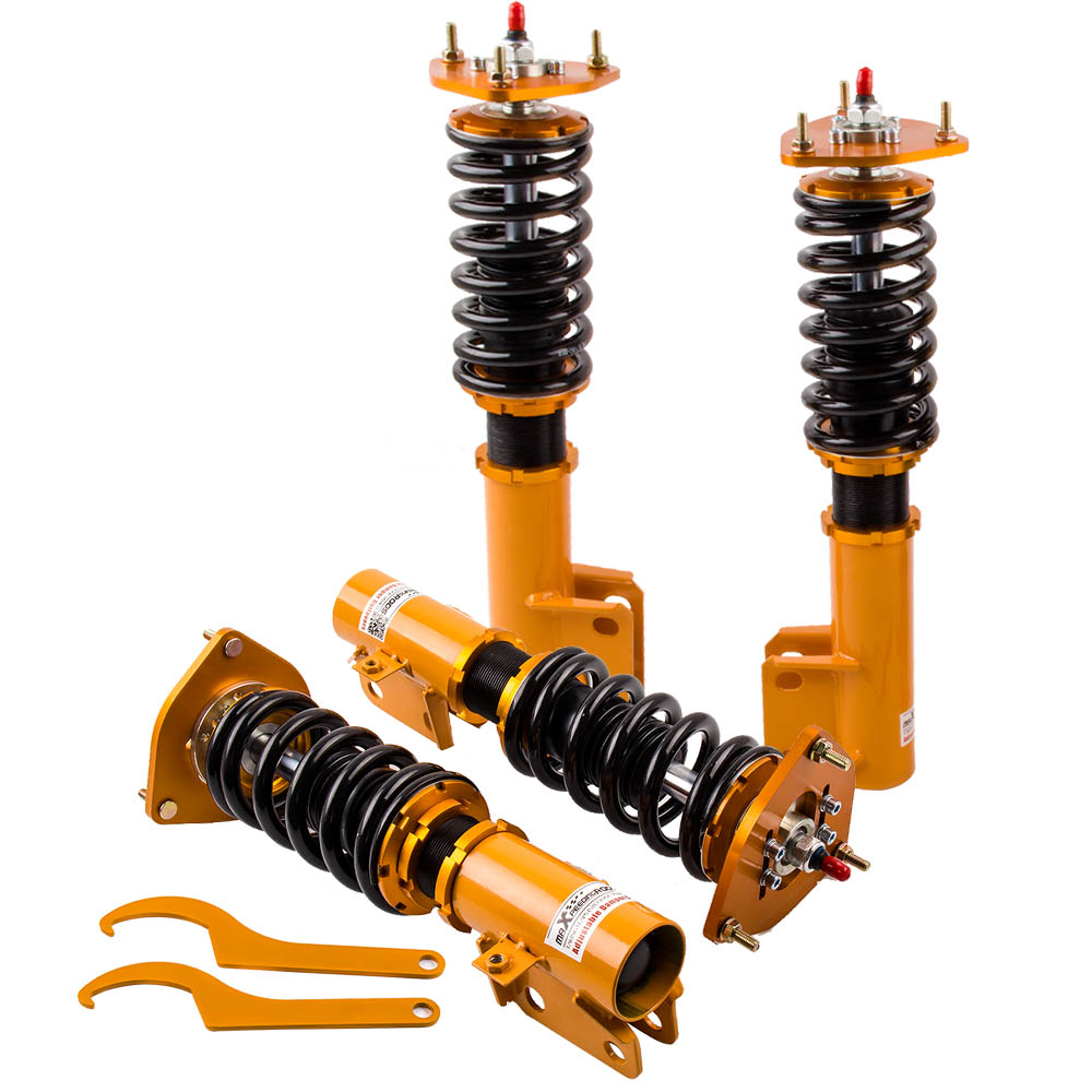 Coilovers Kits pour Subaru Impreza WRX GC8 1993-2001 Suspension Bobine Entretoises 93-01 94 95 96 97 98 99 00 printemps Amortisseur Force Carrossage