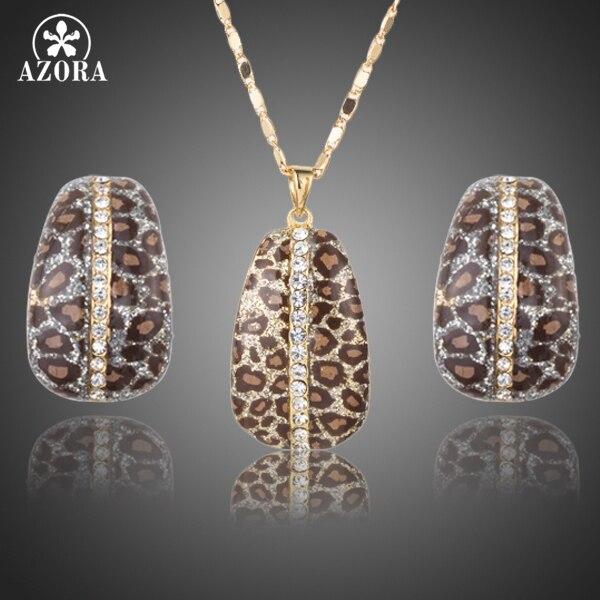AZORA Gold Color Leopard...