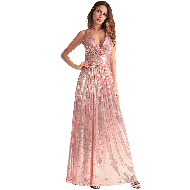 MUXU vestidos sexy gold sequin dress fashion glitter plus size women  clothing patchwork vestidos suspender long dress backless a281e9292981