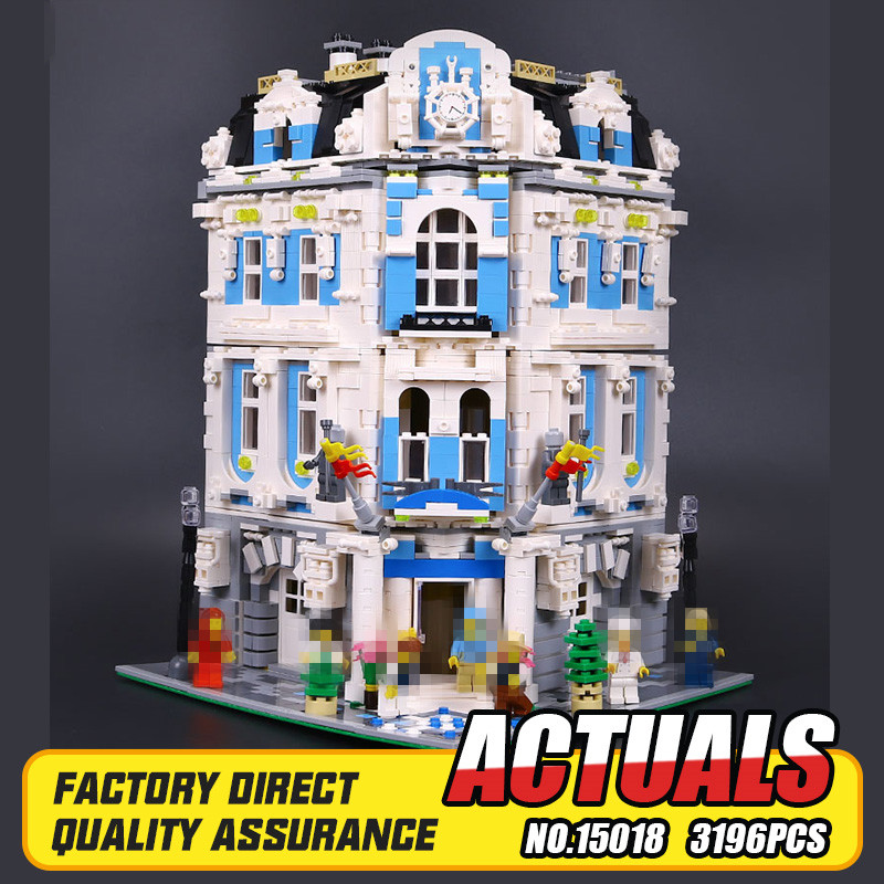 New 3196pcs Lepin 15018 MOC City Series The Sunshine Hotel Set Building Blocks Bricks Educational Toys DIY Children Day's Gift lepin 02012 city deepwater exploration vessel 60095 building blocks policeman toys children compatible with lego gift kid sets
