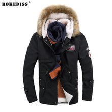 ROKEDISS 2017 New Fashion Winter Jacket Men Breathable Warm OutdoorSport Coat Parkas Casual Cotton-Padded Jacket Z007