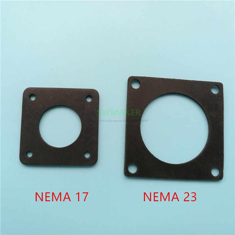 1 stücke NEMA 17 oder nema 23 Stepper Anti Vibration gummi dämpfer für CNC 3D drucker 2mm dicke
