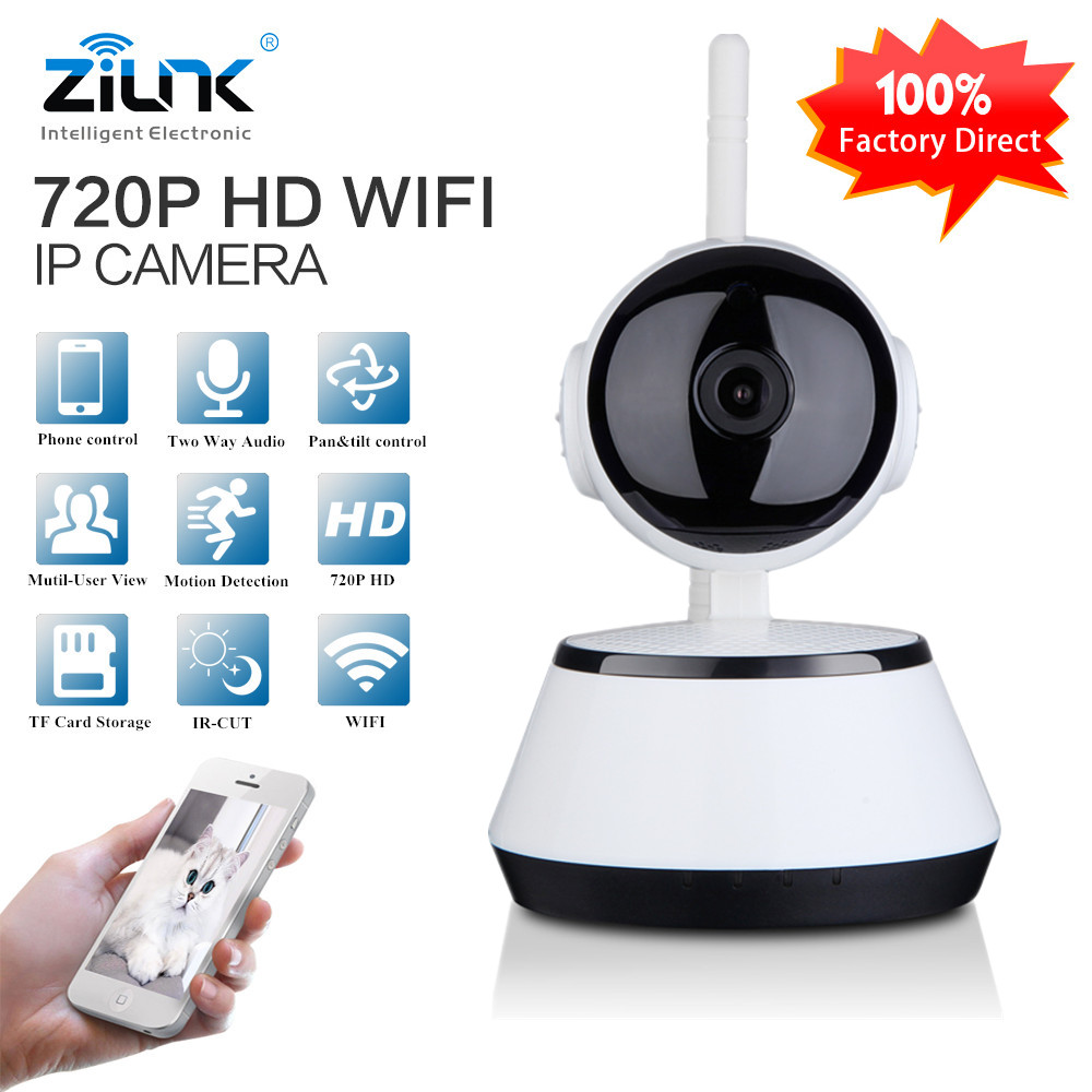 ZILNK IP Camera WiFi Wireles HD 720P Two Way Audio IR-CUT Smart Home Security Camera WI-FI Network Baby Monitor Remote Cam home ip wifi camera hd 5mp two way audio activity alert yunsye smart ip wifi webcam 360 degree panoramic camera ir cut