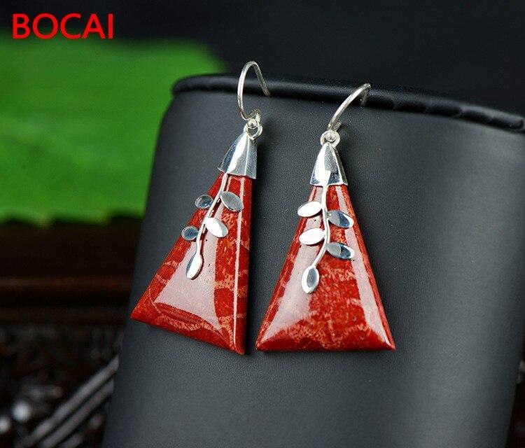 925 Silver Earrings genuine geometry
