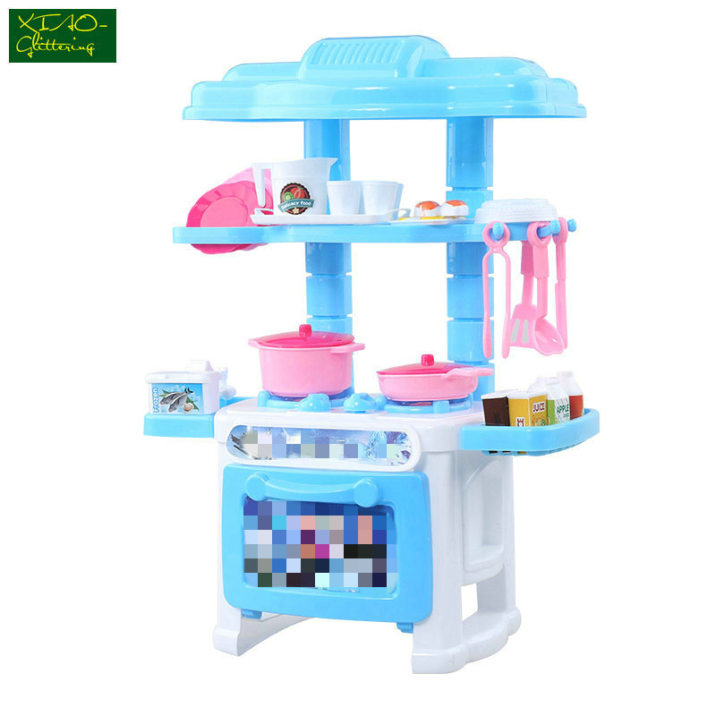 Girl Kitchen Toys Beauty Cooking Toy Play for Children Toys Pretend Play Toys with Light Sound Effect Funny Play House Miniature