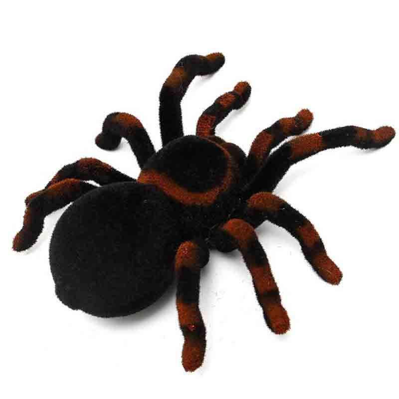 Novelty 4 Channel RC Spider Eyes Shine Halloween Simulation Spider RC Tricky Scary Toy Prank Gift Model