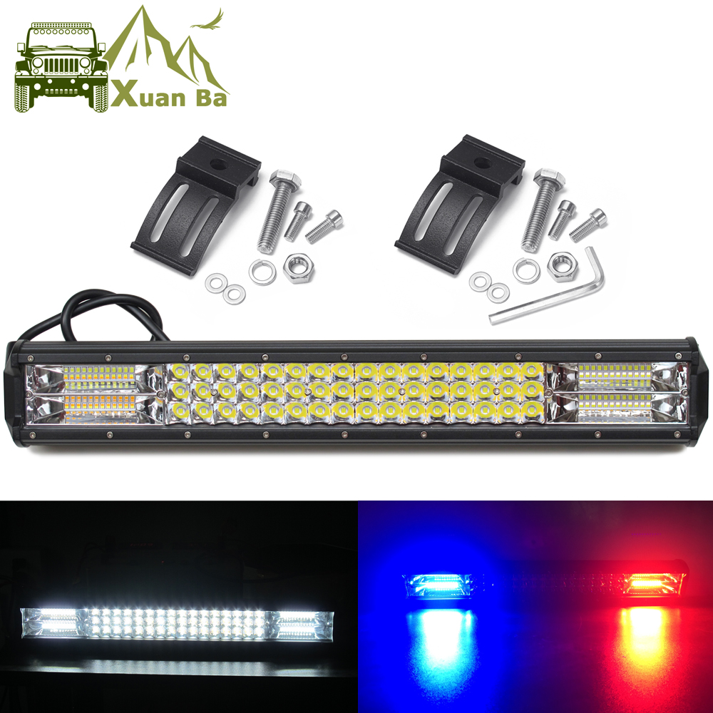 Led Bar 4x4 Offroad Pod Lights For Car Off road Van Truck SUV ATV Trailer 4WD White Red Blue Flash Strobe Driving Warning Light-in Light Bar/Work Light from Automobiles & Motorcycles