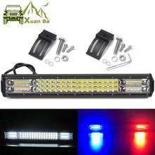 Led Bar 4x4 Offroad Pod Lights For Car Off road Van Truck SUV ATV Trailer 4WD White Red Blue Flash Strobe Driving Warning Light
