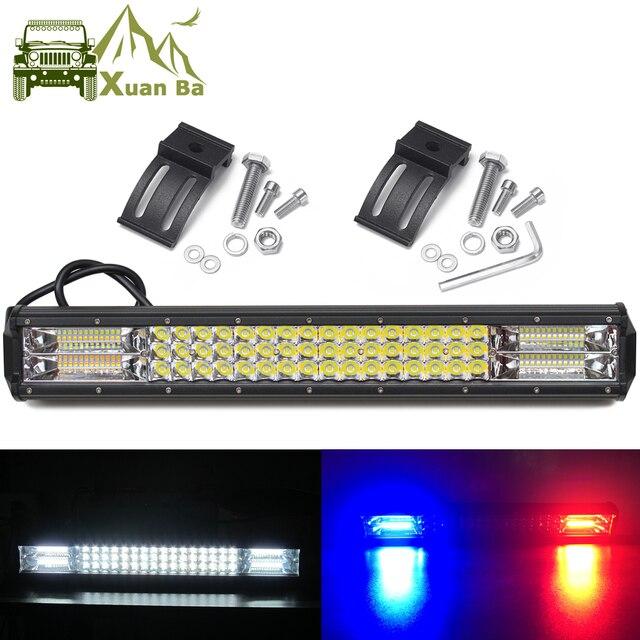 Светодиодный светильник s 4x4 для внедорожников, внедорожников, грузовиков, кроссоверов, квадроциклов, прицепов, 4WD, белый, красный, синий, мигающий стробоскоп, Предупреждение ющий светильник для вождения