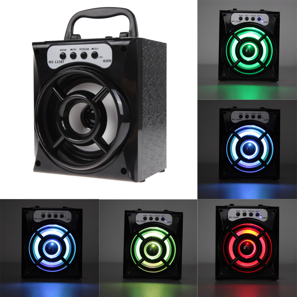 Portable Newest Outdoor ABS Bluetooth4 0 Square Dance Speaker Super Bass Haut Parleurs with USB TF