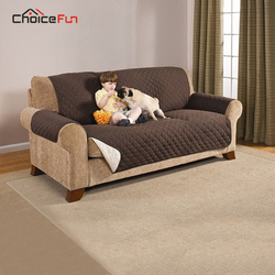 CHOICE FUN Waterproof Living Room Cotton 3/2/1 seat  Cushion Couch Brown Three Seater Dog Sofa Cover For Pets