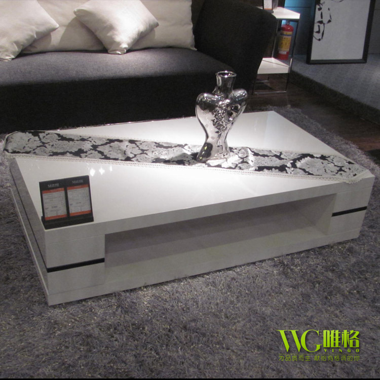 VEGA Furniture Modern Minimalist White Piano Lacquer Square Coffee Table  Tea Table 680 Special High End Fashion In Coffee Tables From Furniture On  ...