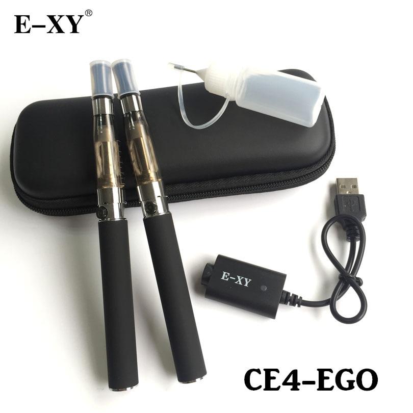 E-XY EGO Doppel Elektronische Zigarette 650/900/1100/1300 mAh Ego aufladbaren Batterie Mit CE4 Verdampfer Atomzier reißverschlusstasche Kit