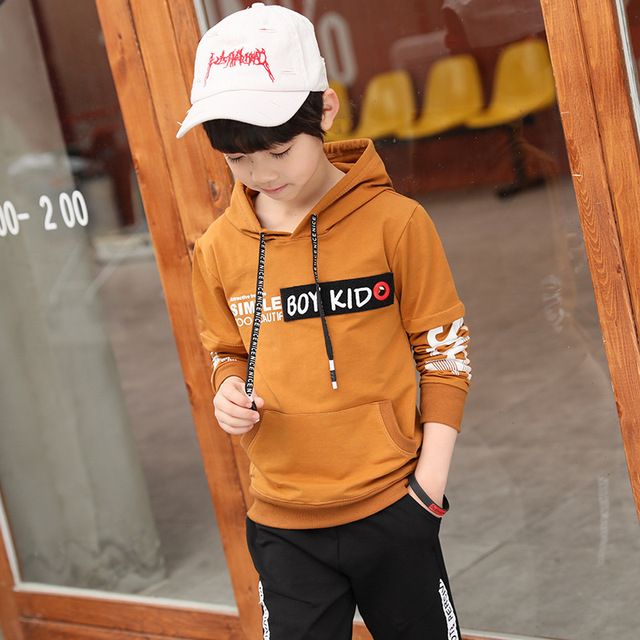 Spring New 2018 Casual Boy Tracksuit Pullover Jogging Set Childen Hoodies Sweatpants Sports Suit baby Children's Clothing Set 4