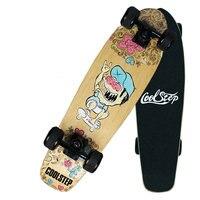 24inch Skateboards Mini Longboard Complete Skate Board Canadian Maple Skateboard Deck Adult Children 4 Wheel Skates