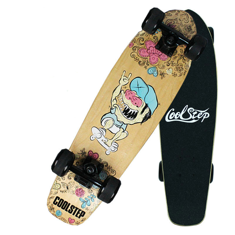 24inch Skateboards Mini Longboard Complete Skate Board Canadian Maple Skateboard Deck Adult Children 4 Wheel Skates koston longboard skateboard scooter black skate helmet