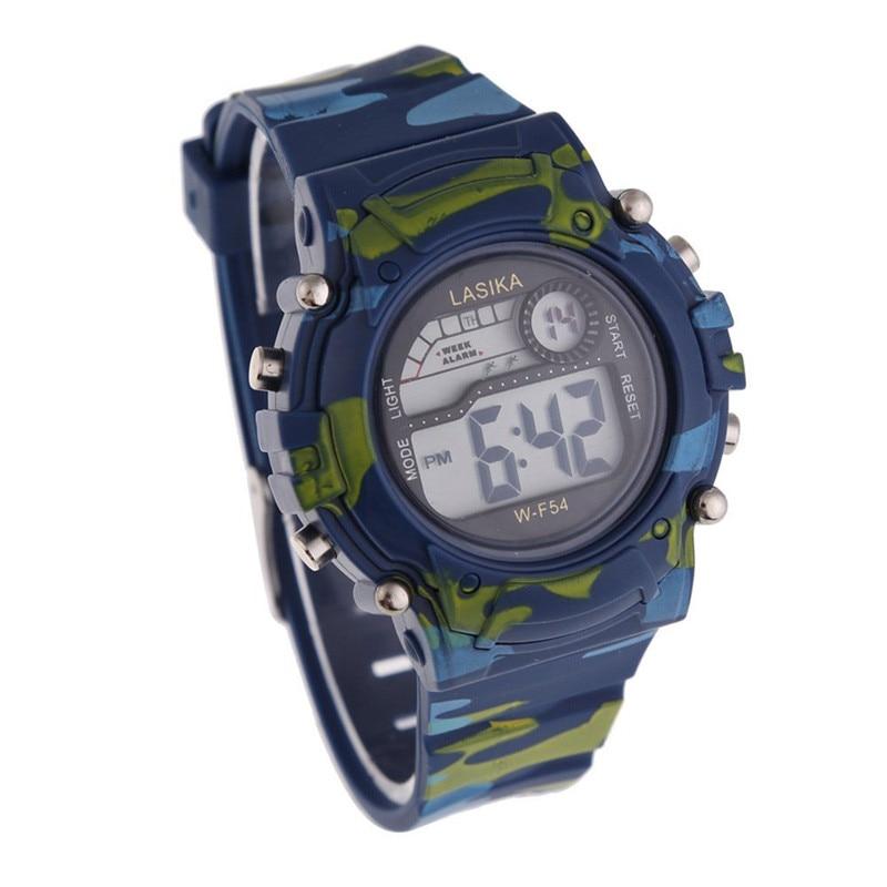 2016 FHD Children Watch Fashion Quartz-watch Military Sports Camouflage Digital Watch LED Analog Clock Wholesale