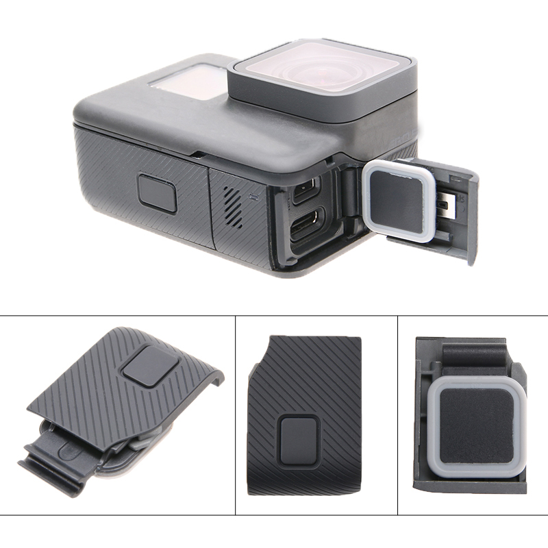 Replacement Side Door Cover USB-C Mini HDMI Port Side Repair Part for Go Pro GoPro Hero 7/6/5/(2018) Action Camera Accessories Replacement Side Door Cover USB-C Mini HDMI Port Side Repair Part for Go Pro GoPro Hero 7/6/5/(2018) Action Camera Accessories
