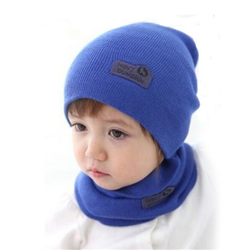 Warm Winter Baby Hat Scarf 1 4 Years Old Kid Hats Set