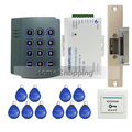 Toda la venta Completa de Tarjetas RFID Reader Teclado Puerta de Control de Acceso de Entrada sistema Kit + Huelga Eléctrica Puerta Lock En EL ENVÍO LIBRE