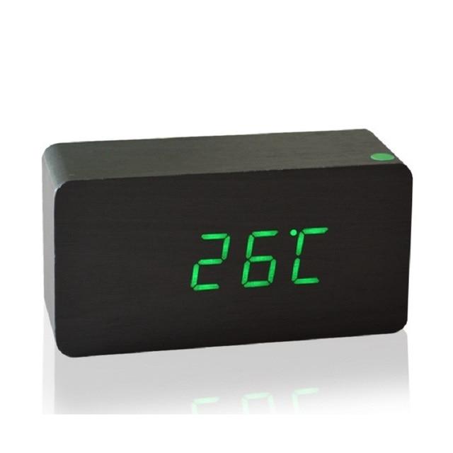 c3b8d323911 Alta qualidade preço barato Design moderno de madeira LED Alarm clock