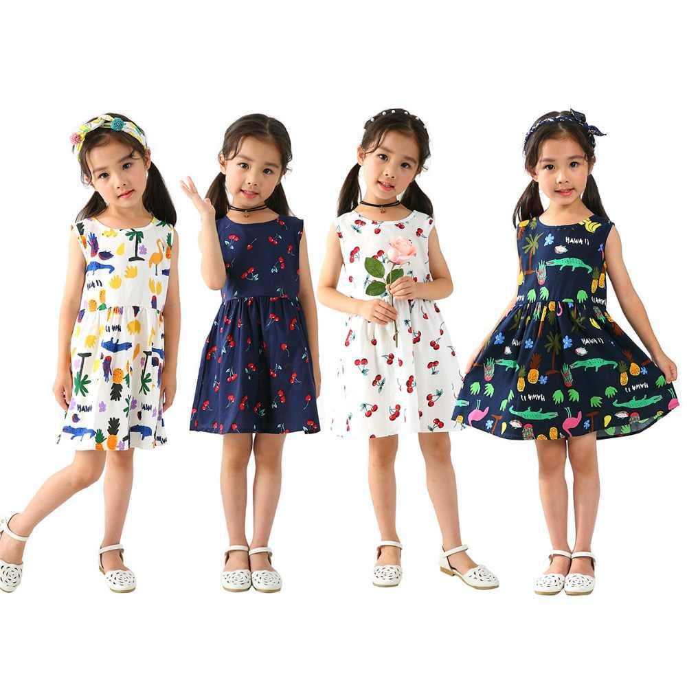 940ae5dbd ... Summer Girls Dress Kids Children Princess Dress For Girls Sleeveless  Plaid Dress Soft Cotton Princess Dresses ...