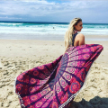 2016 Indian Mandala Tapestry Decor Wall Hanging Tapestries Bed Sheet Boho Printed Beach Towel Yoga Mat Table Cloth with tassel