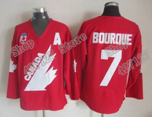 8dd7dc40214 Mens  7 Ray Bourque 1991 Team Canada Throwback Vintage Ice Hockey Jersey  All Stitched Name