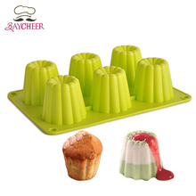 Kitchen Tools 6 Hole DIY Mousse Jelly Chocolate Handmade Soap Candy Silicone Mold Decoration Bakeware Cupcake Baking Molds