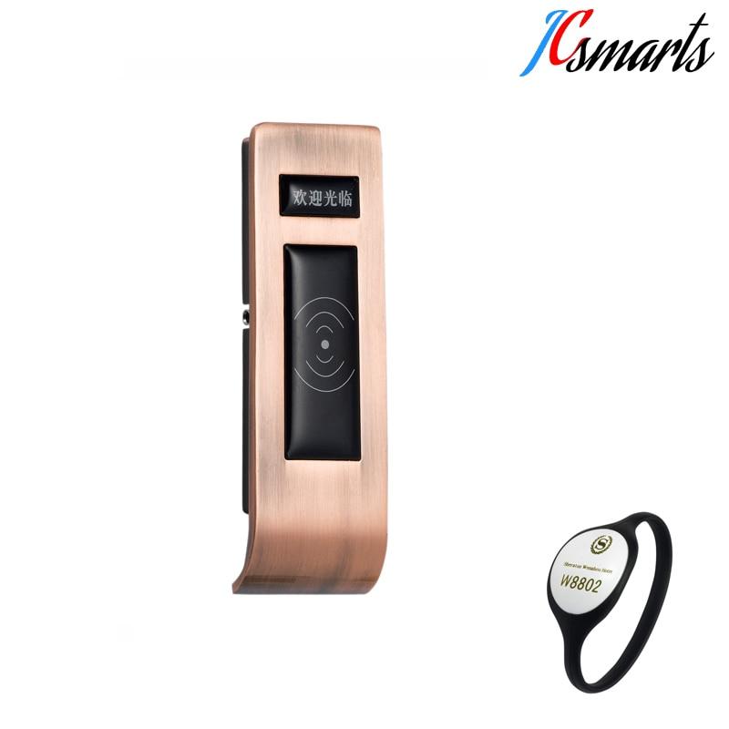 все цены на Smart RFID Digital Lock Sauna Locks For Spa Swimming Pool Gym Electronic Cabinet Lock Lockers Lock wristband Key онлайн