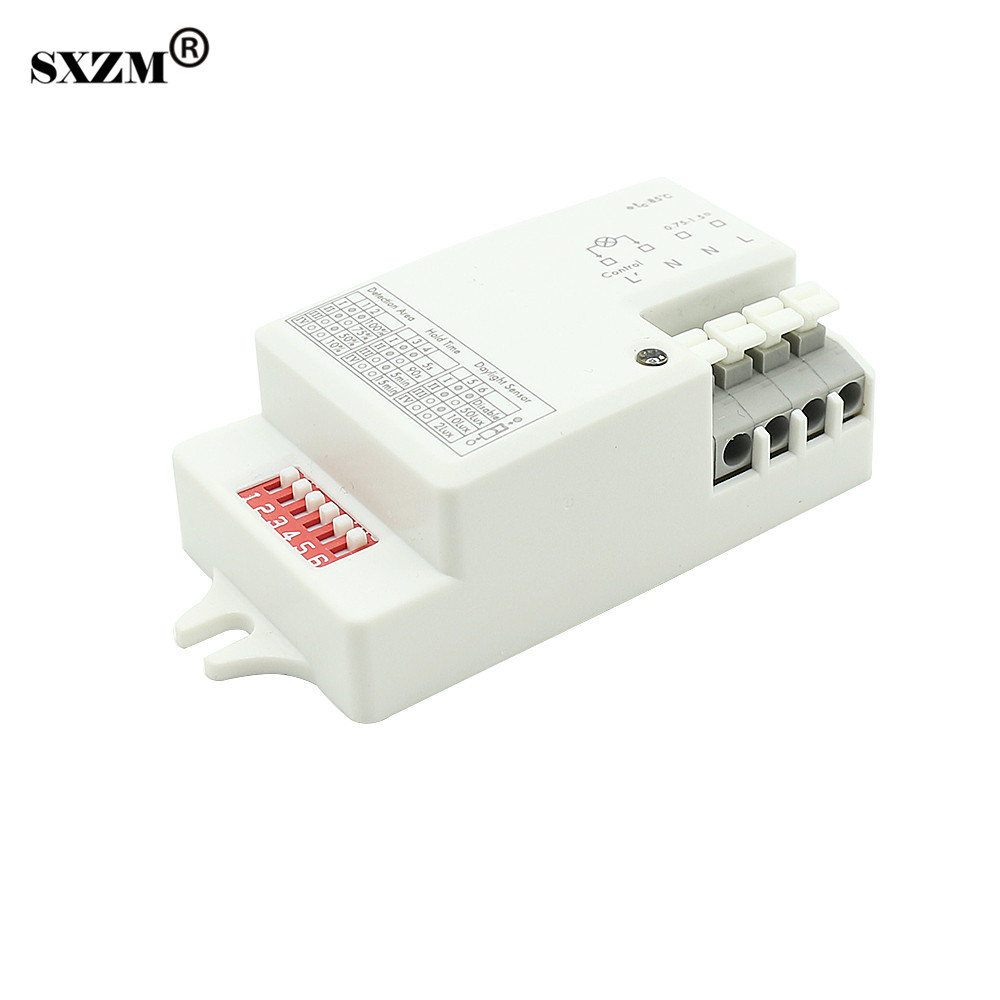 SXZM 220V~240V 800W led Microwave Radar Sensor Switch Body Motion Detector Light Module Home Control PIR Infrared Ray sxzm pir infrared motion sensor switch human body induction save energy motion automatic led module light sensing switch