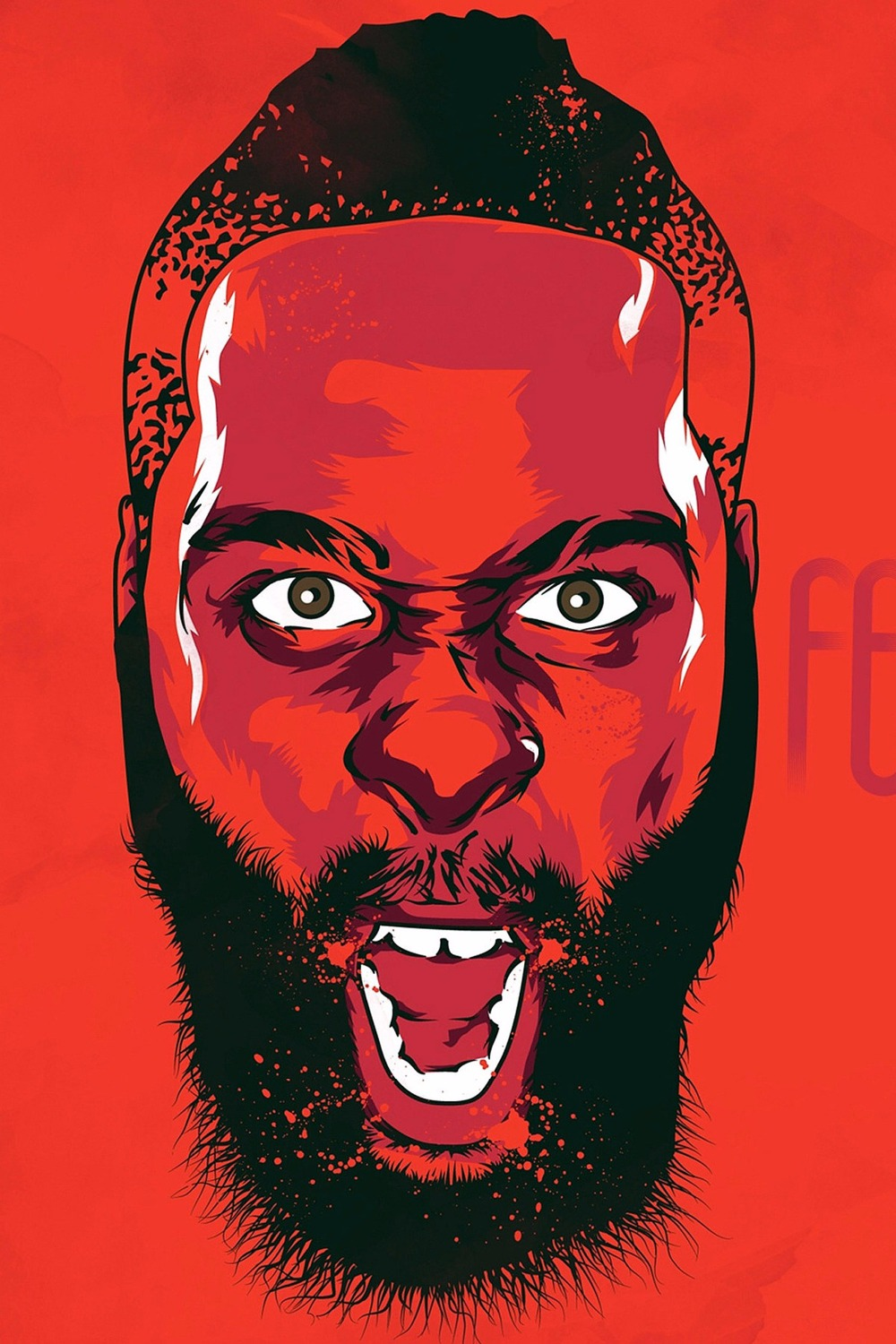 Poster nordic Free delivery James Harden Basketball poster wall art 90x60 cm Decoration moderne 80x120 cm