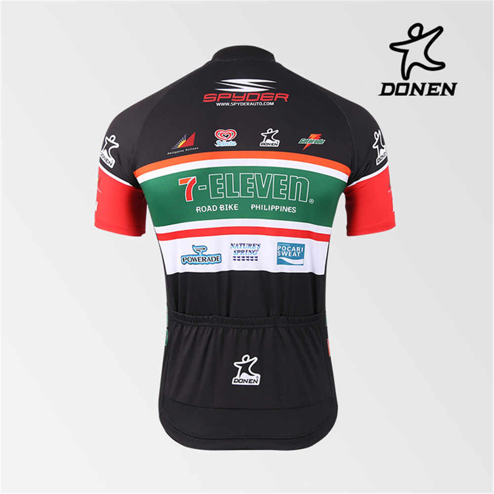 7-Eleven Cycling Jersey Short Sleeve Bike Clothing Quick Dry MTB