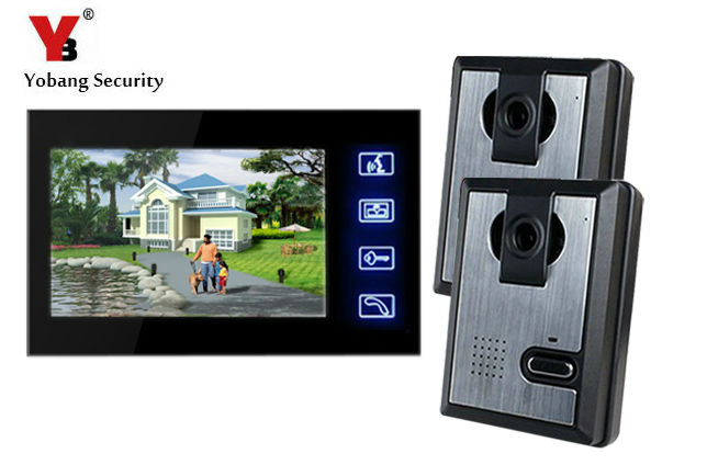 Yobang Security 7 Video Wired Intercom Night Vision IR Camera Door Phone For Villa Doorbell Monitor Access Control System new 7 inch color video door phone bell doorbell intercom camera monitor night vision home security access control