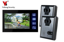 Yobang Security 7″ Video Wired Intercom Night Vision IR Camera Door Phone For Villa Doorbell Monitor Access Control System