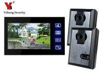 Yobang Security 7″ Video Wired Intercom Night Vision IR Camera Door Phone For Villa Doorbell Monitor Access Control System