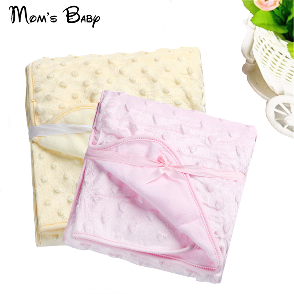 Baby Blanket Newborn Thermal Soft Fleece Blanket Swaddling Bedding Set Child Super Soft And Comfortable Solid