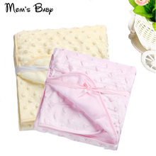 Baby Blanket Newborn Thermal Soft Fleece Blanket & Swaddling Bedding Set Child Super Soft And Comfortable Solid Free Shipping