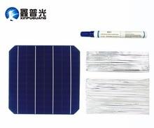 XINGPUGUANG 20pcs 0.5V 4.8W solar cell  DIY module + 0.15*1.6mm Tabbing Tab Wire + 0.2*4.0mm PV Bus Wire + Flux Pen Diy panel