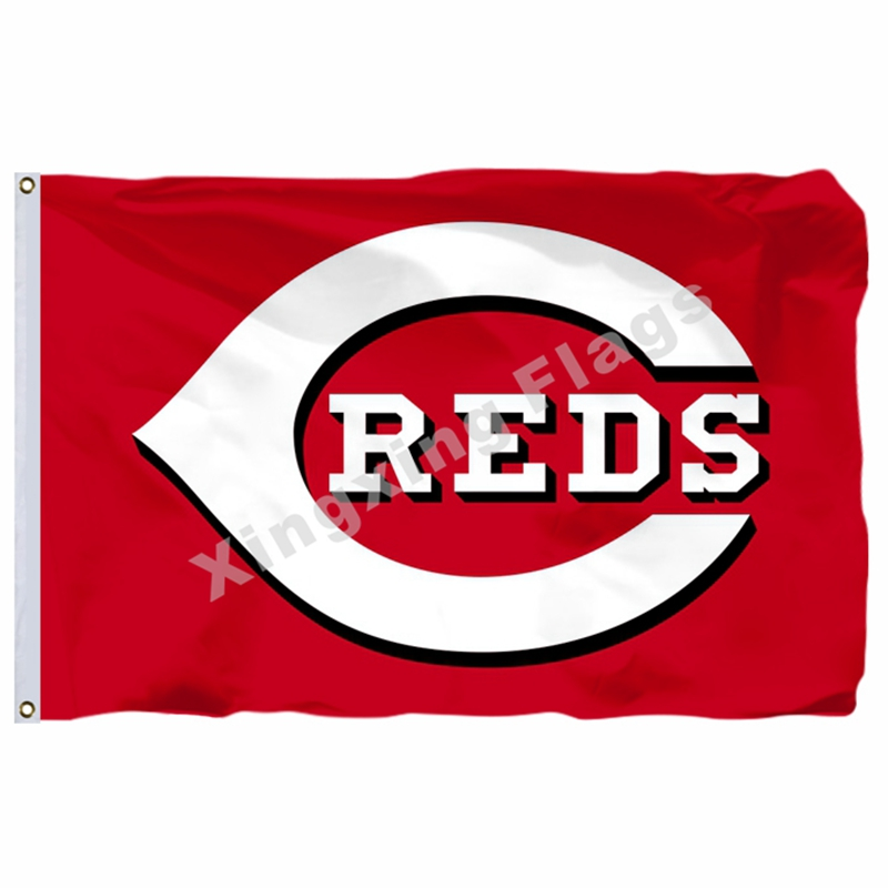 Cincinnati Reds Flag 3ft X 5ft Polyester MLB Cincinnati Reds Banner Flying Size No.4 144* 96cm Custom Flag
