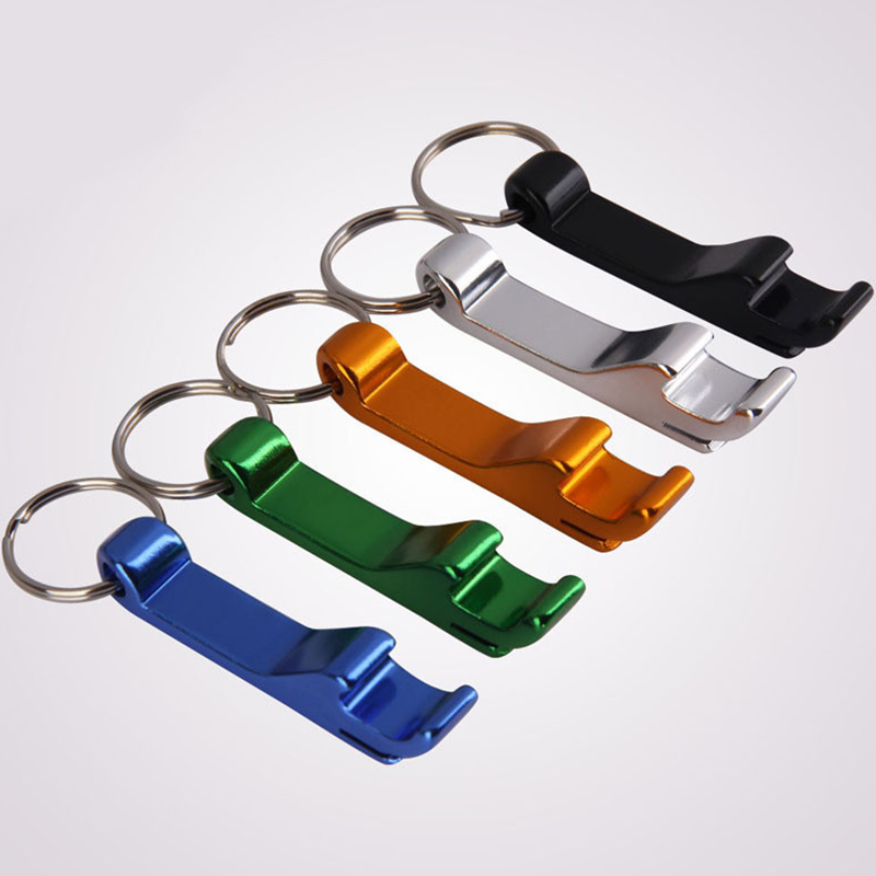 Multifunction Can Beer Opener Keyrings Outdoor EDC Beer Bottle Opener Keychains Anodized Aluminum Alloy