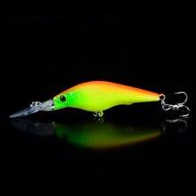 1pcs Fishing Lures 9cm/6.5g Minnow Lure Artificial 5 Colors Available Bass Crankbait Wobbler Fishing Tackle 3D Eyes 6# Hooks