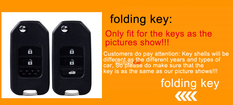 1 piece Car Key Shell Cover Holder For HONDA for accord 2013 2017 For Civic 2012