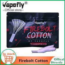 20pcs/pack Original Vapefly Firebolt Cotton Vape Cotton Pre-loaded organic Cotton for DIY RDA RBA Atomizer Coil Wick accessories