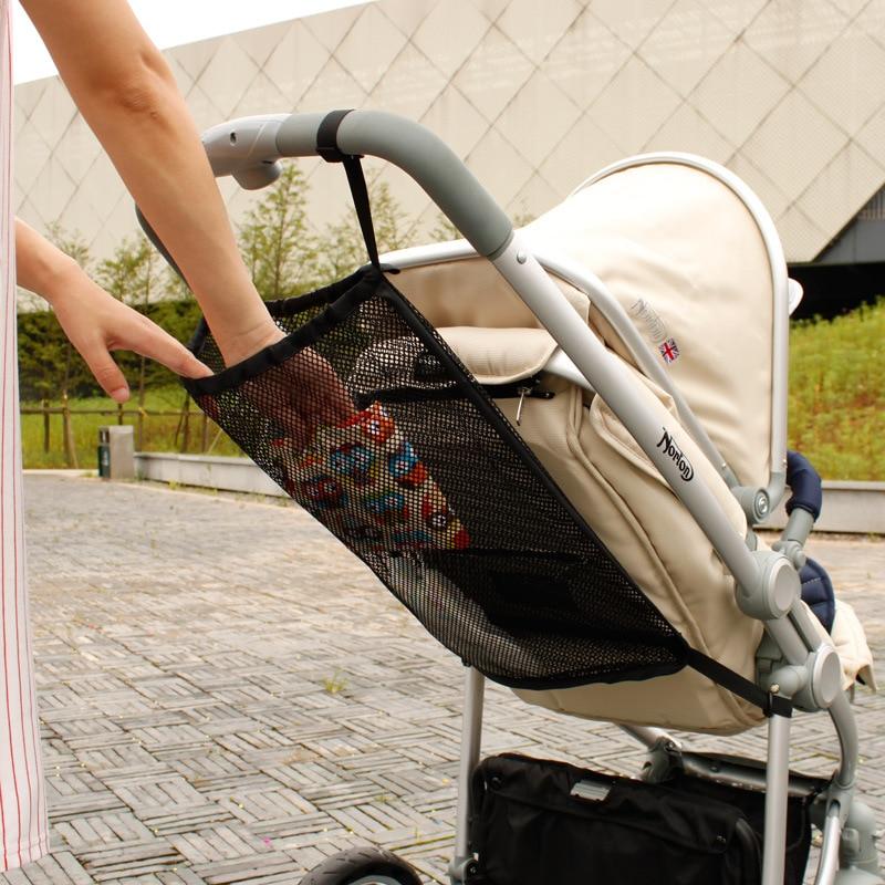 Baby Stroller Accessory Portable Mesh Tuck Net Stroller String Bag Baby Stroller Organizer practical baby trolley bunch net pocket infant stroller mesh bottle diaper storage organizer bag holder
