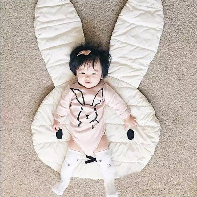 Baby Play Mat Lovely Rabbit Rug Blankets Bunny Ins Bedding Swaddling for Play Mat Kids Infant Bed Carpet Decoration Baby Room