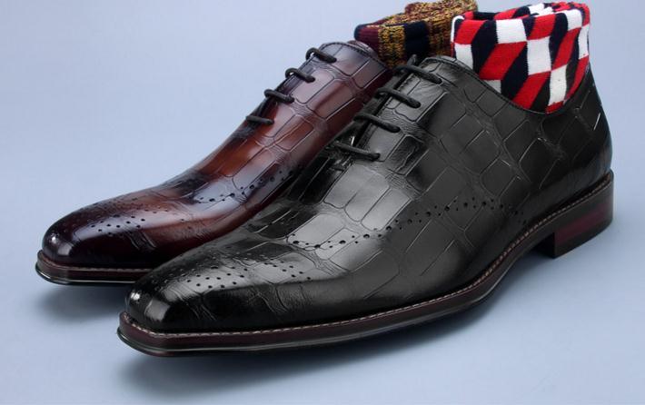 Туфли под платье Для мужчин из натуральной кожи на шнуровке эрглю Проверьте плед Смарт повседневная обувь ручной работы резные башмаки Сва