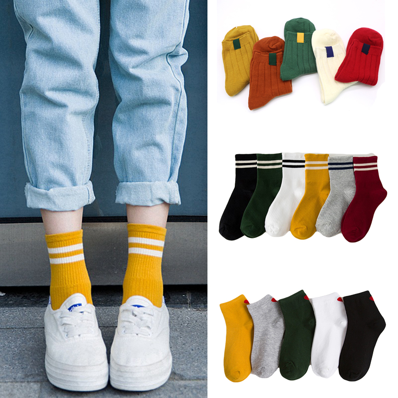 Women   Socks   Striped 3D   Socks   Red Heart Autumn Winter Style Christmas Winter   Socks   For Woman Female Funny   Sock   Calcetines Meias