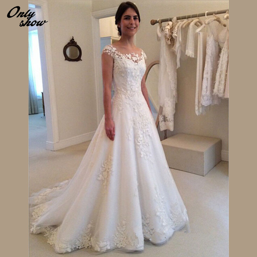 Buy vintage ivory lace wedding dress for Where to buy yasmine yeya wedding dresses