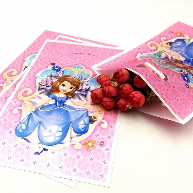 10pcs/bag Princesa Sofia Party Supplies Gift Bags Cartoon Happy ...